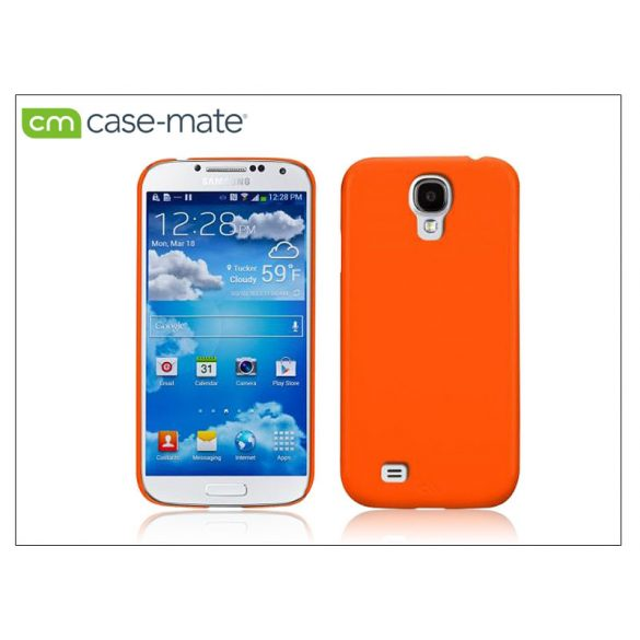 Samsung i9500 Galaxy S4 hátlap - Case-Mate Barely There - electric orange