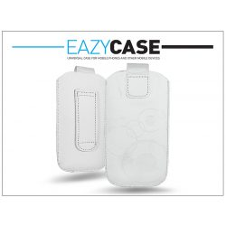 DECO SLIM univerzális bőrtok - Apple iPhone 3GS/Sony Xperia E/Nokia X - fehér - 5. méret
