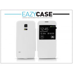 Samsung SM-G800 Galaxy S5 Mini S View Cover flipes hátlap - utángyártott - fehér