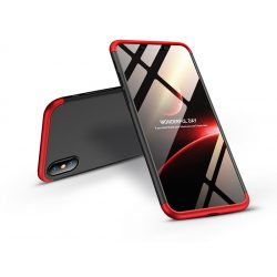 Apple iPhone XS Max hátlap - GKK 360 Full Protection 3in1 - fekete/piros