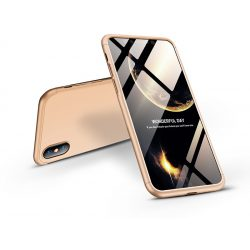 Apple iPhone XS Max hátlap - GKK 360 Full Protection 3in1 - arany