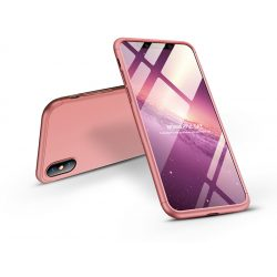 Apple iPhone XS Max hátlap - GKK 360 Full Protection 3in1 - rose gold