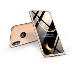 Apple iPhone XS Max hátlap - GKK 360 Full Protection 3in1 - Logo - arany