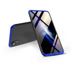 Apple iPhone XR hátlap - GKK 360 Full Protection 3in1 - fekete/kék