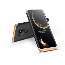 Huawei Mate 20 hátlap - GKK 360 Full Protection 3in1 - fekete/arany