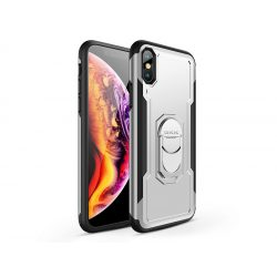 Apple iPhone XS Max hátlap - GKK Armor Full Protection - fekete/ezüst