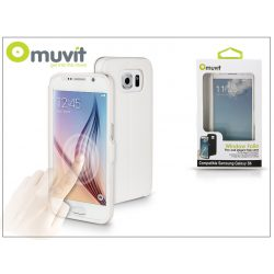 Samsung SM-G920 Galaxy S6 flipes tok - Muvit Window Folio - white