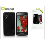 LG E460 Optimus L5 II hátlap - Muvit miniGel Glazy - black
