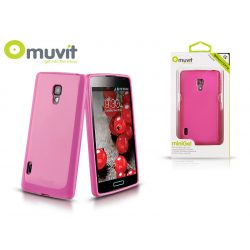 LG P710 Optimus L7 II hátlap - Muvit miniGel Glazy - pink
