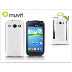 Samsung i8260 Galaxy Core hátlap - Muvit miniGel Glazy - white