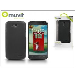 LG L90 D405 hátlap - Muvit miniGel - smoke black