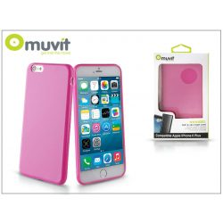 Apple iPhone 6 Plus/6S Plus hátlap - Muvit miniGel - pink