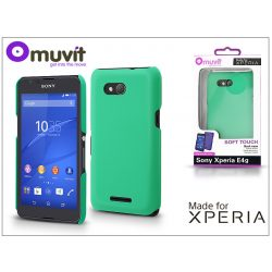 Sony Xperia E4G (E2003) hátlap - Made for Xperia Muvit Soft Touch - green