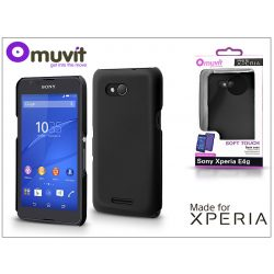 Sony Xperia E4G (E2003) hátlap - Made for Xperia Muvit Soft Touch - black