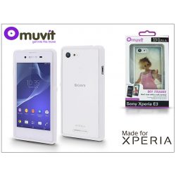 Sony Xperia E3 (D2203) hátlap - Made for Xperia Muvit My Frame - white/clear
