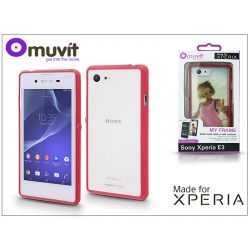Sony Xperia E3 (D2203) hátlap - Made for Xperia Muvit My Frame - red/clear