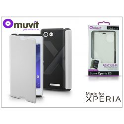 Sony Xperia E3 (D2203) flipes tok - Made for Xperia Muvit Easy Folio - white