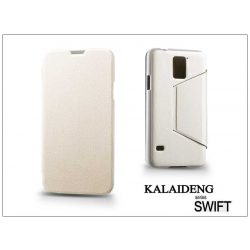 Samsung SM-G900 Galaxy S5 flipes tok - Kalaideng Swift Series - white