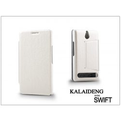 Sony Xperia E1 (D2005) flipes tok - Kalaideng Swift Series - white