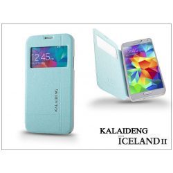 Samsung SM-G900 Galaxy S5 flipes tok - Kalaideng Iceland 2 Series View Cover - turquoise blue