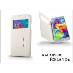 Samsung SM-G900 Galaxy S5 flipes tok - Kalaideng Iceland 2 Series View Cover - white