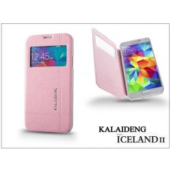 Samsung SM-G900 Galaxy S5 flipes tok - Kalaideng Iceland 2 Series View Cover - pink