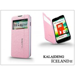 LG L90 D405 flipes tok - Kalaideng Iceland 2 Series View Cover - pink