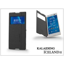 Sony Xperia C3 (D2533) flipes tok - Kalaideng Iceland 2 Series View Cover - black