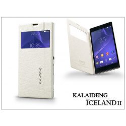 Sony Xperia T3 (D5103) flipes tok - Kalaideng Iceland 2 Series View Cover - white
