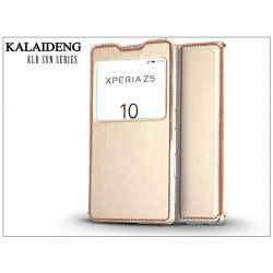 Sony Xperia Z5 (E6653) flipes tok - Kalaideng Sun Series View Cover - golden