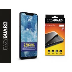 Nokia 7.1 Plus gyémántüveg képernyővédő fólia - Diamond Glass 2.5D Fullcover - fekete