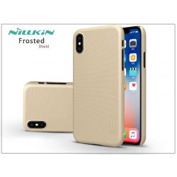 Apple iPhone X hátlap képernyővédő fóliával - Nillkin Frosted Shield - gold