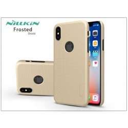 Apple iPhone X hátlap képernyővédő fóliával - Nillkin Frosted Shield Logo - gold