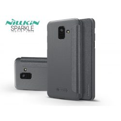 Samsung A600F Galaxy A6 (2018) oldalra nyíló flipes tok - Nillkin Sparkle - fekete