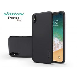 Apple iPhone XS Max hátlap - Nillkin Frosted Shield - fekete