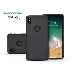 Apple iPhone XS Max hátlap - Nillkin Frosted Shield Logo - fekete
