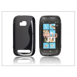 Nokia Lumia 710 szilikon hátlap - S-Line - fekete
