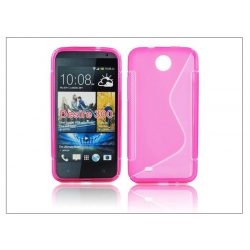 HTC Desire 300 szilikon hátlap - S-Line - pink