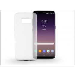 Samsung G955F Galaxy S8 Plus szilikon hátlap - Soft Slim 0,5 mm - transparent