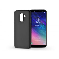 Samsung A605 Galaxy A6 Plus (2018) szilikon hátlap - Soft - fekete