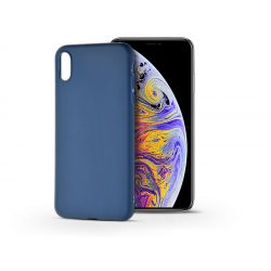 Apple iPhone XS Max szilikon hátlap - Soft - kék