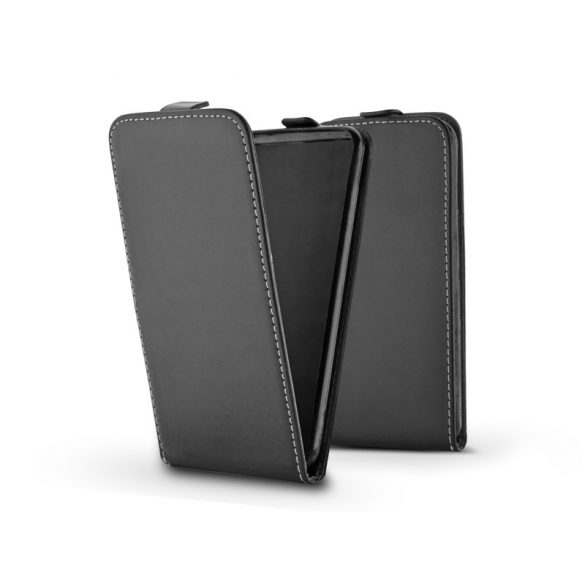 Slim Flexi Flip bőrtok - Samsung G970U Galaxy S10e - fekete