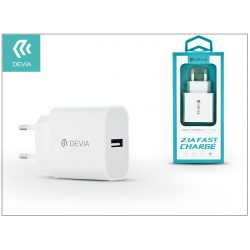 Devia Smart USB hálózati töltő adapter - Devia Smart USB Fast Charge - 5V/2,1A - white