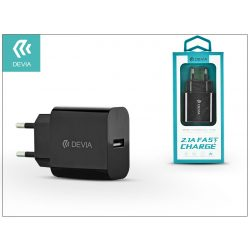 Devia Smart USB hálózati töltő adapter - Devia Smart USB Fast Charge - 5V/2,1A - black