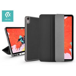 Apple iPad Pro 12.9 (2018) védőtok (Smart Case) Apple Pencil tartóval - Devia Leather Case V2 - black