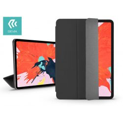 Apple iPad Pro 12.9 (2018) védőtok (Smart Case) on/off funkcióval - Devia Star Magnet - black