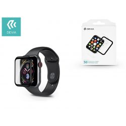 Apple Watch 4 képernyővédő üveg - Devia 3D Curved Full Screen Tempered Glass - 40 mm - black