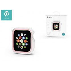 Apple Watch 4 védőtok - Devia Dazzle Series 40 mm - fehér/pink