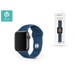 Apple Watch lyukacsos sport szíj - Devia Deluxe Series Sport Band - 38/40 mm - blue