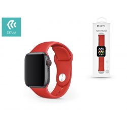 Apple Watch lyukacsos sport szíj - Devia Deluxe Series Sport Band - 38/40 mm - red